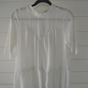 Leith White Peasant Top